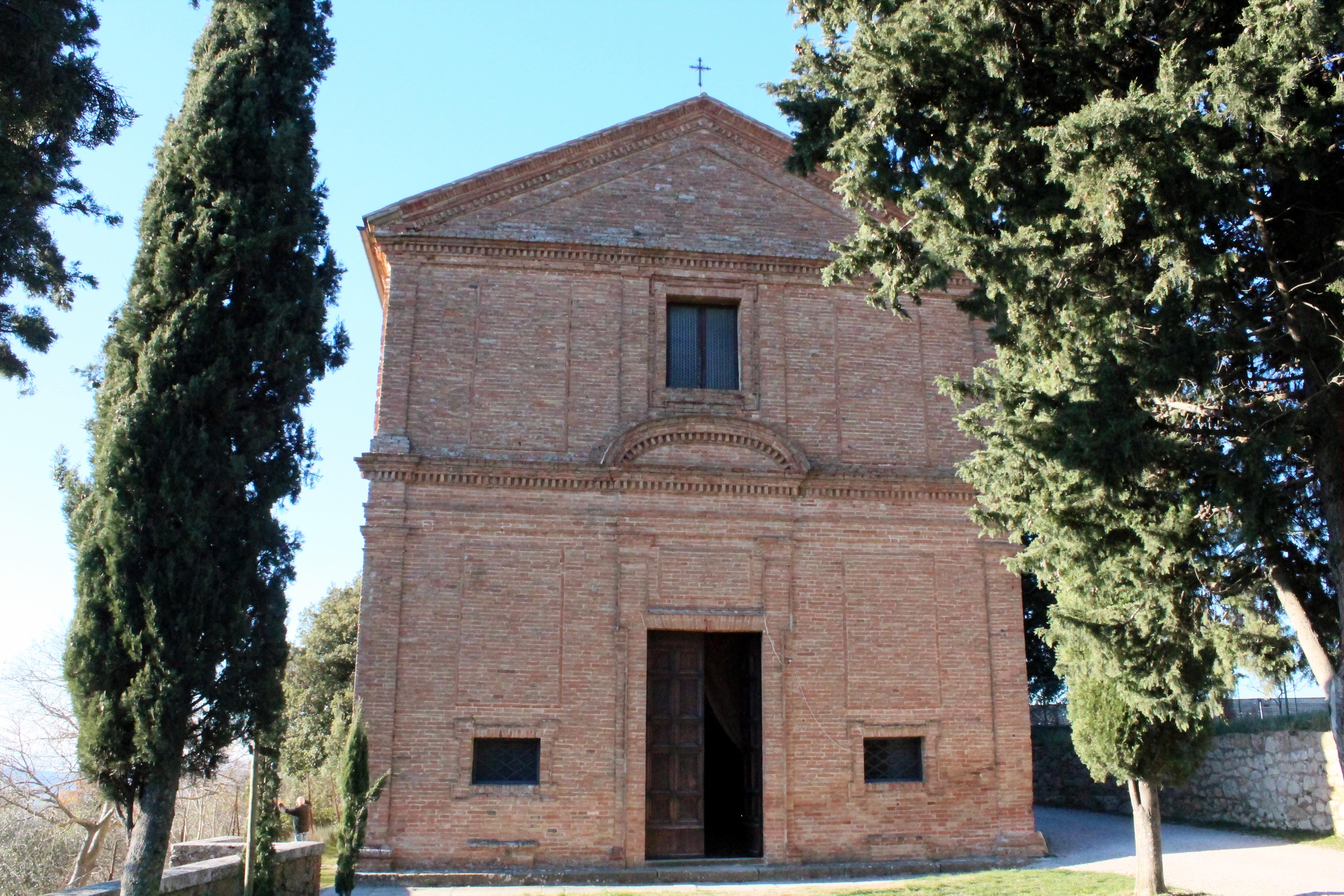 La chiesa di Santa Caterina a Pienza