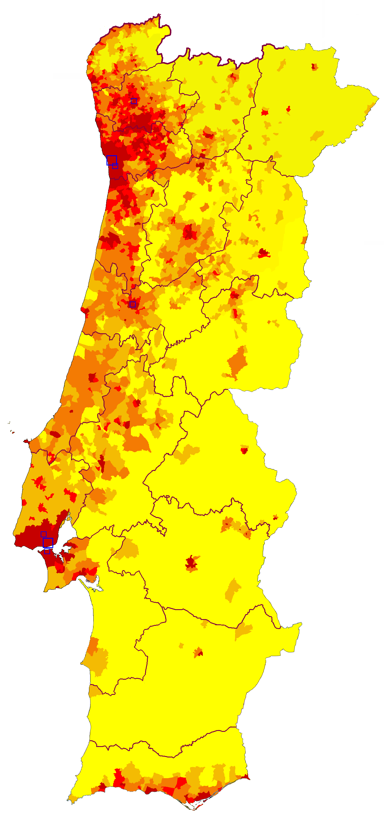 Demographics Of Portugal Wikipedia - Portugal map major cities