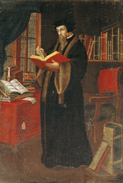 Portrait of John Calvin, French School