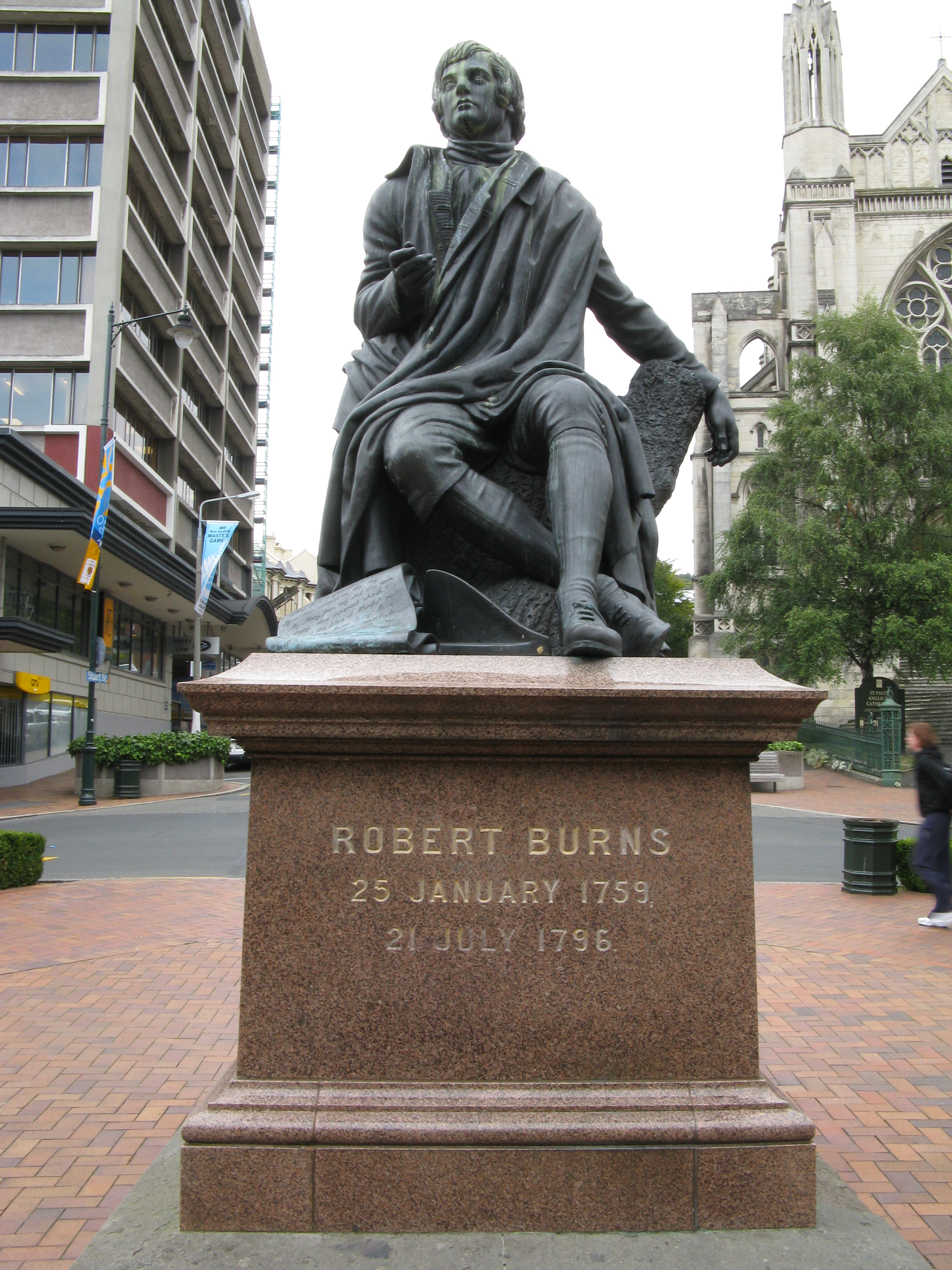 File Robert Burns Statue In The Octagon  Dunedin  Otago  New Zealand Jpg