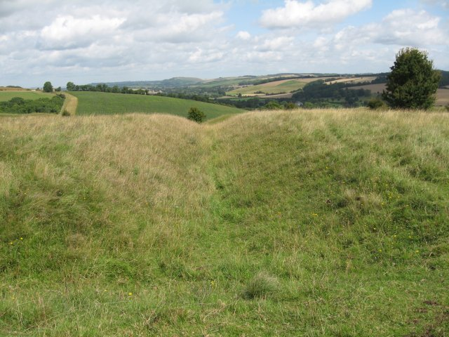 Roman fortifications, Hod Hill - geograph.org.uk - 1425283