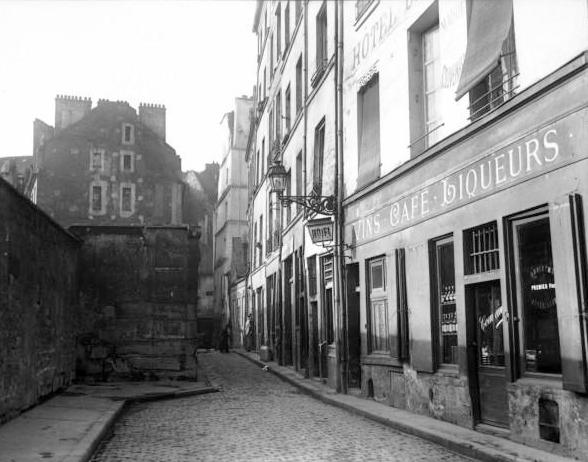 Fichier:Rue Saint-Julien-le-Pauvre, Paris, 1913.jpg