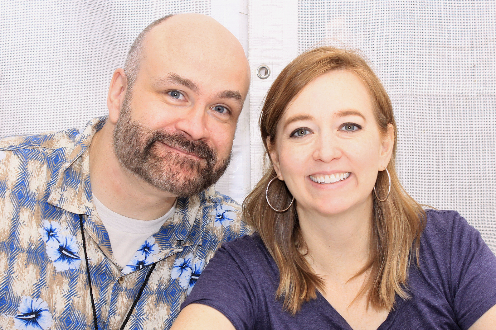 Hale and her husband Dean at the 2016 Texas Book Festival