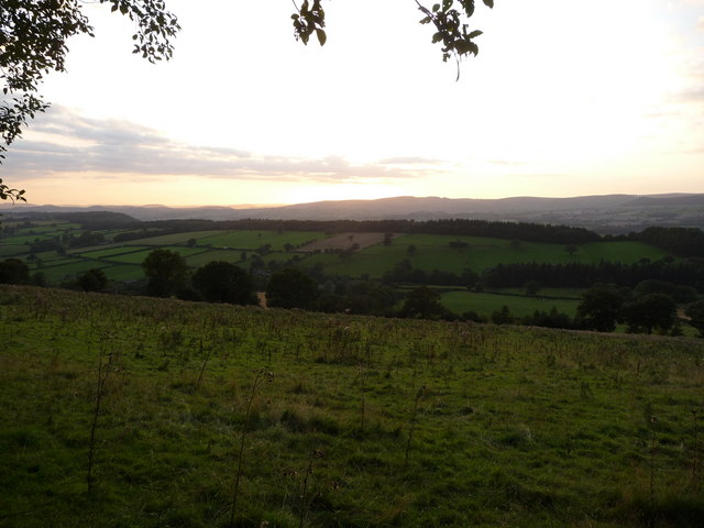 Southern end of the Long Mynd from Wenlock Edge. - geograph.org.uk - 1482234