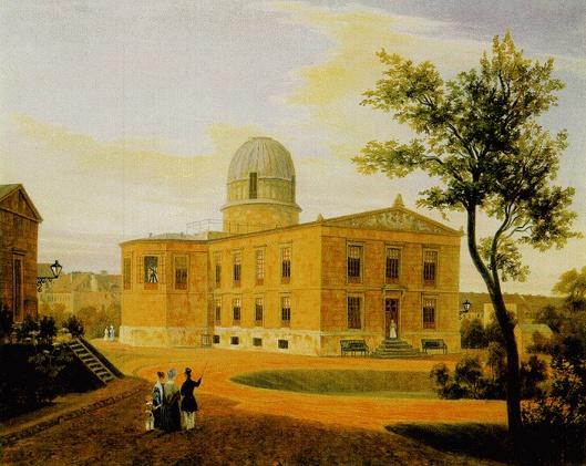 Die Neue Sternwarte in Berlin, Ölgemälde von Carl Daniel Freydanck, 1838
