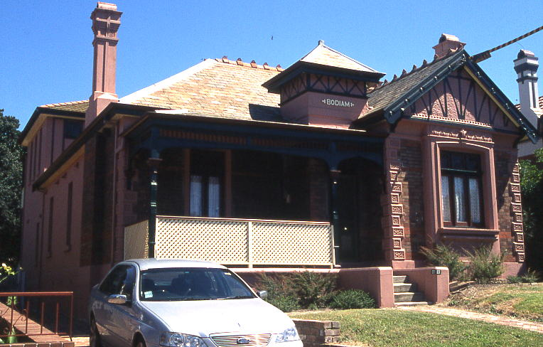 Bodiam, Harrow Road, Bexley, New South Wales  example of Queen Anne Bungalow