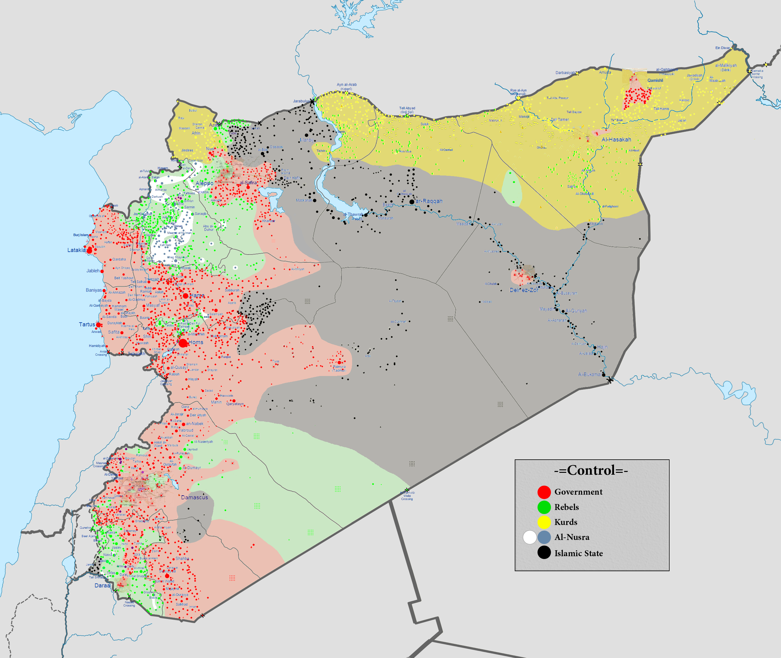 Image result for Syrian Civil war map