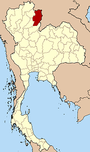 Map of Thailand highlighting Nan Province}