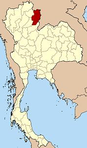 ナーン県の位置