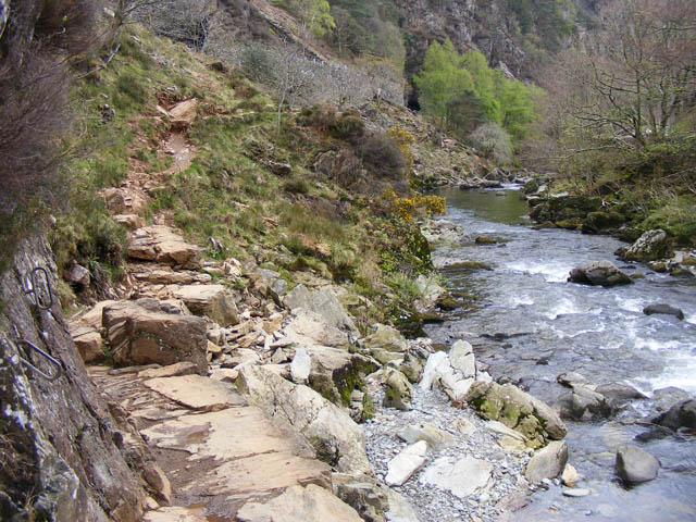 The fisherman's path, Aberglaslyn Pass - geograph.org.uk - 1382565