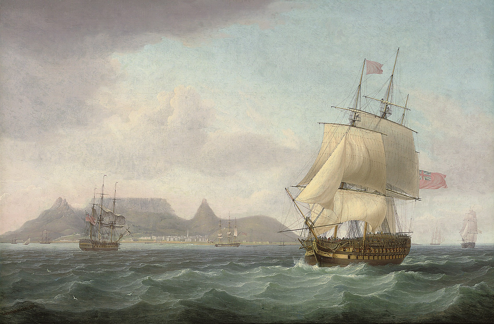 File Thomas Whitcombe View Of Cape Town Table Bay Cape
