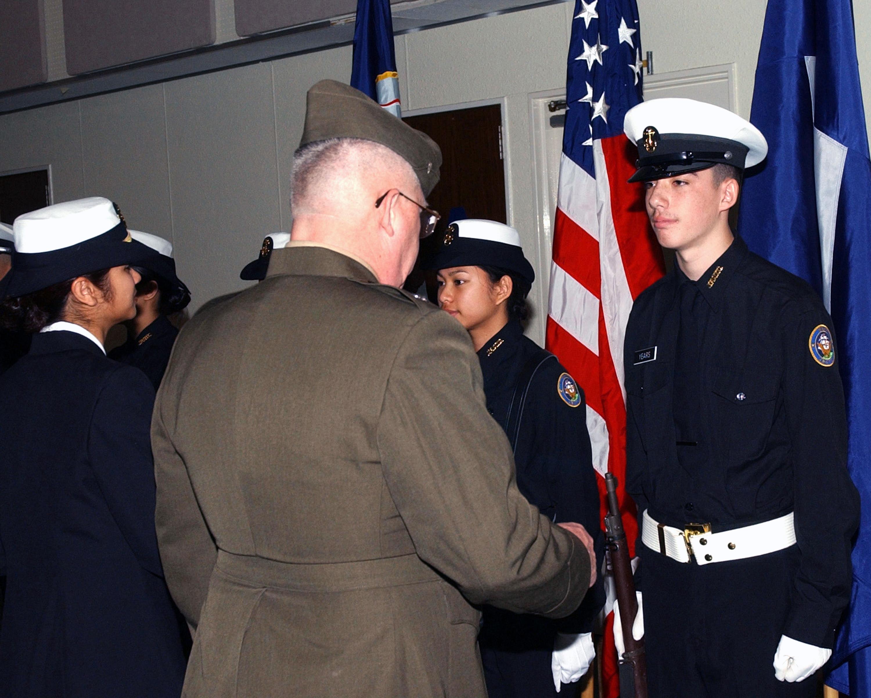 003 Lt. Col. Roland Eisel, U.S. Marine Corp (Ret), Navy Junior Reserve ...