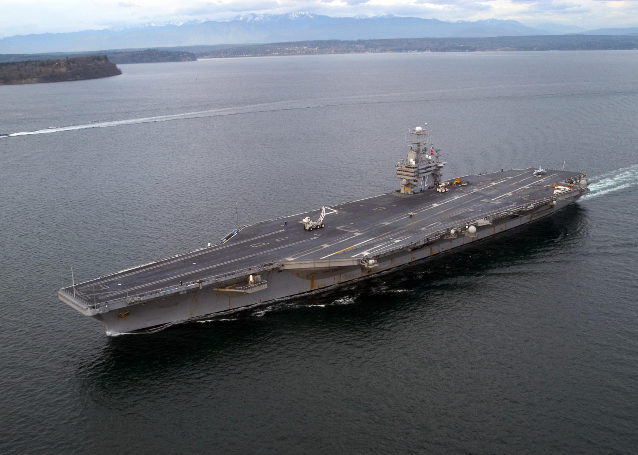 FileUS Navy NO The Nimitzclass Aircraft Carrier - Us aircraft carriers deployment map