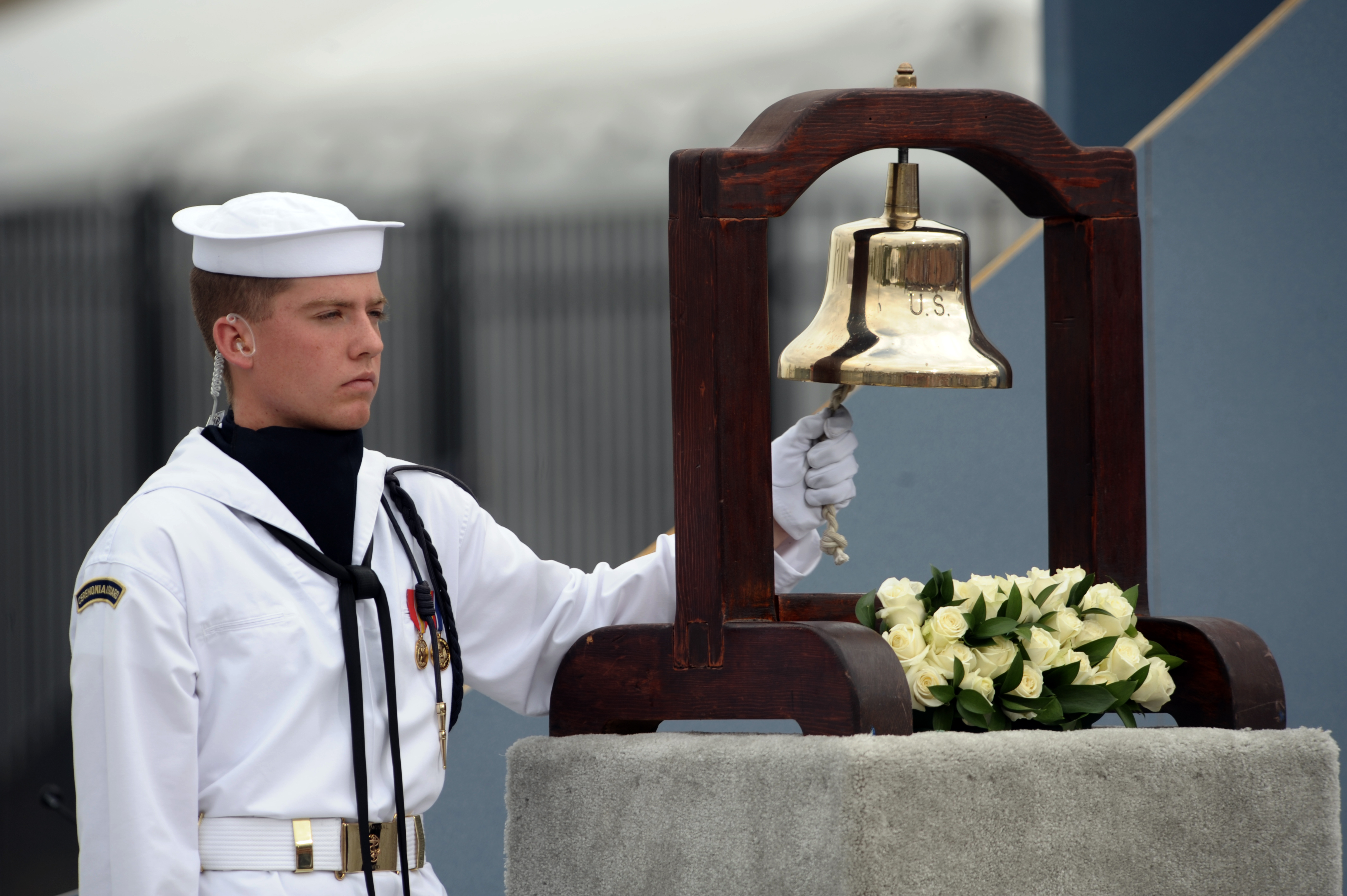 File Us Navy 080911 N 0696m 003 A Sailor Rings A Bell As