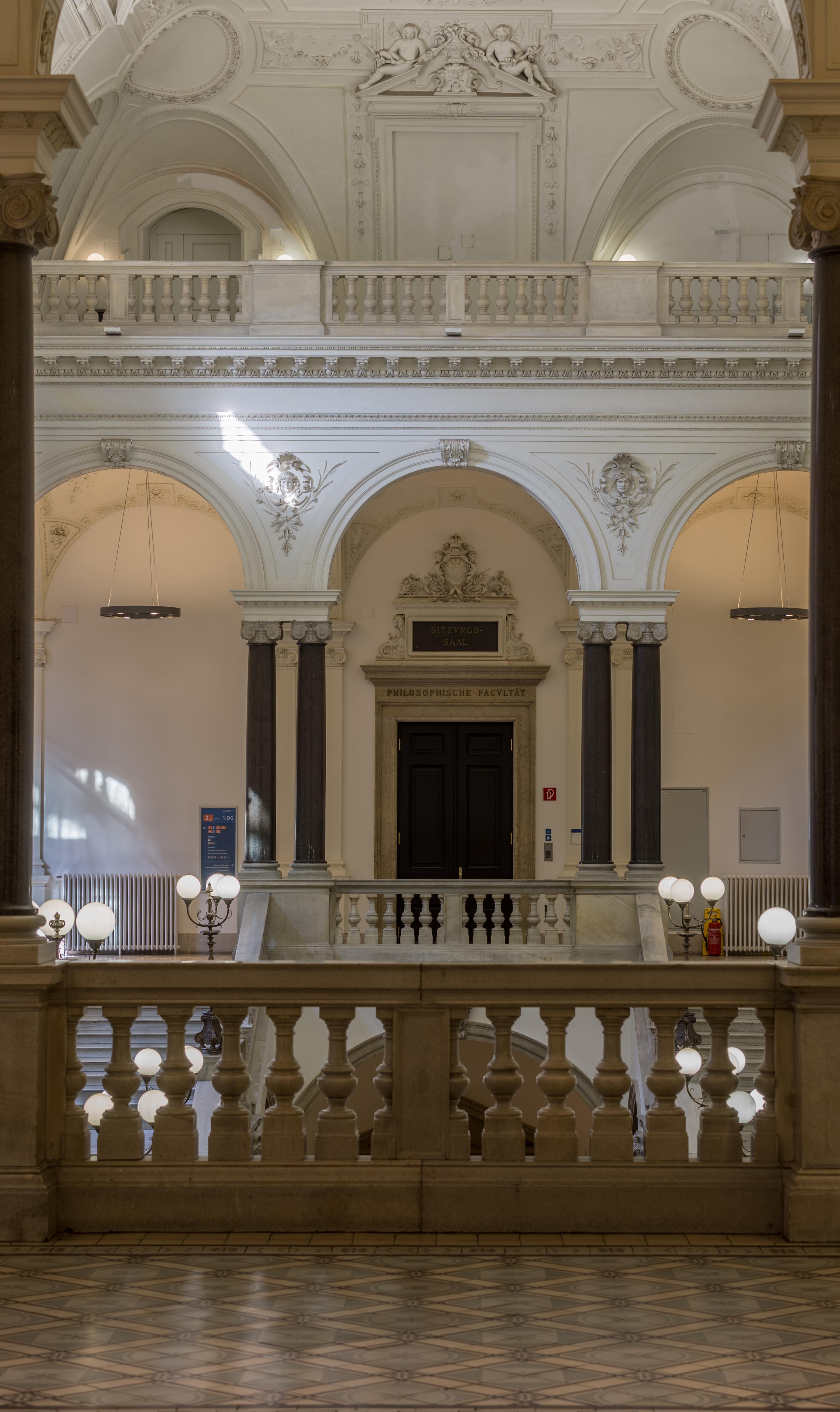 Fileuniversität Wien Vestibül Großer Festsaal Stiegenhaus 2117