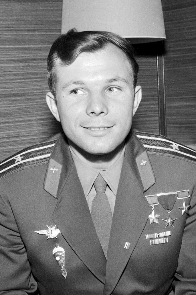 Youri Gagarine en 1961.