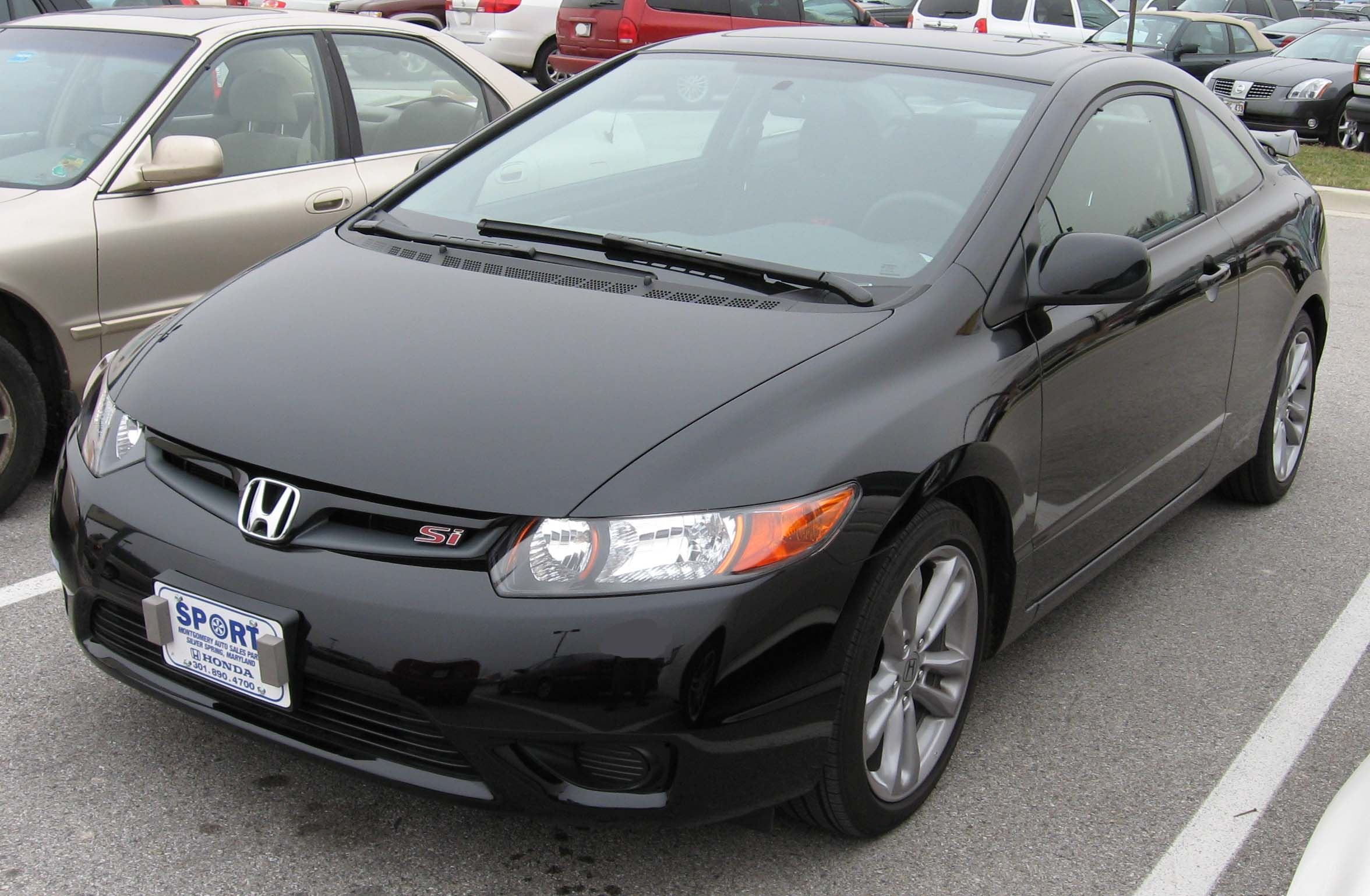 File 06 07 Honda Civic Si Coupe Jpg Wikimedia Commons