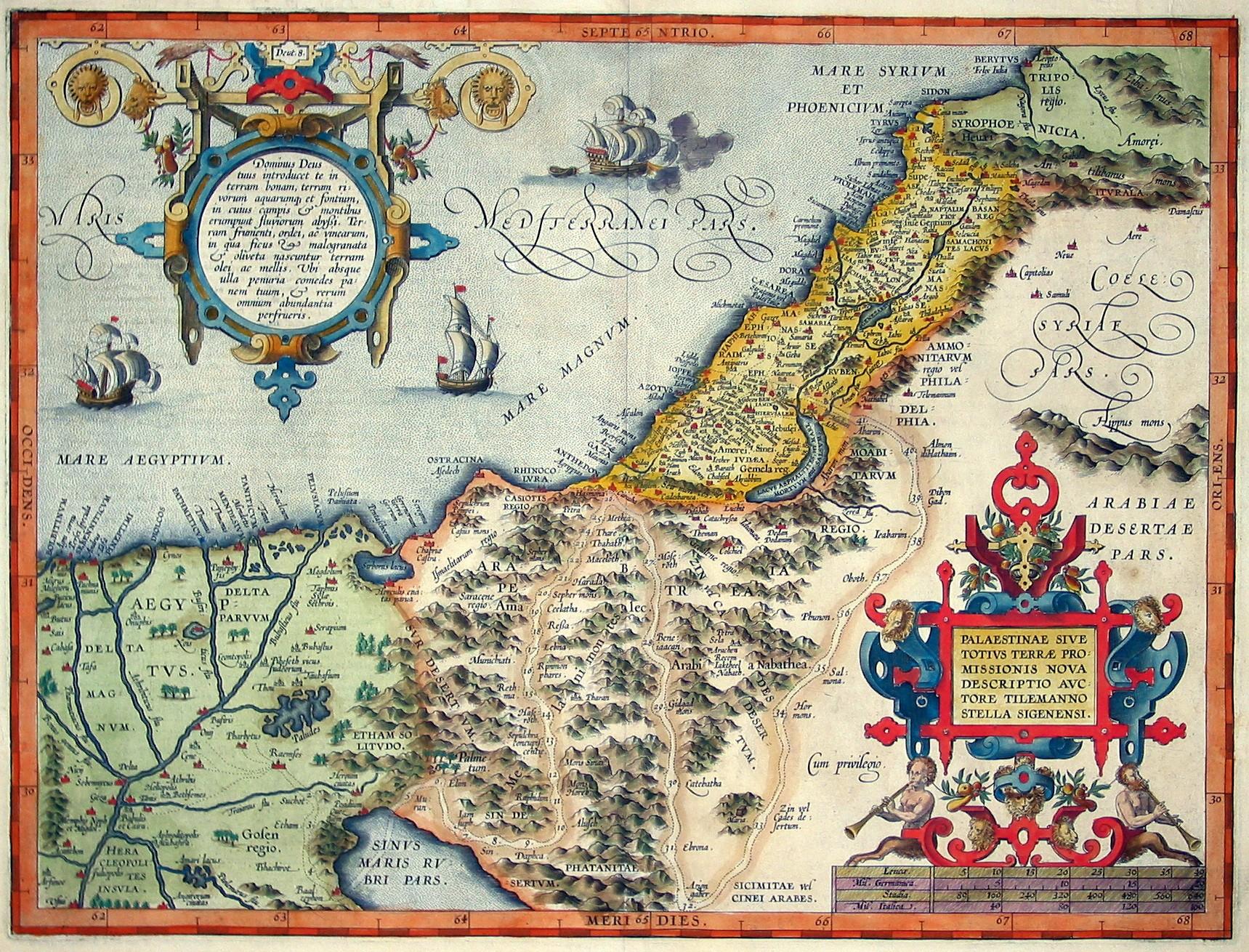 history of palestine land map