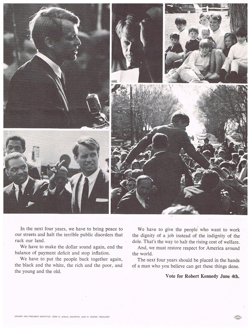 RFK's campaign flyer