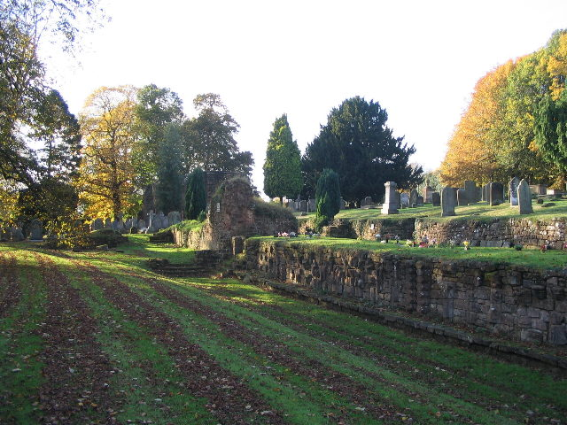 Abbey remains and churchyard - geograph.org.uk - 603925