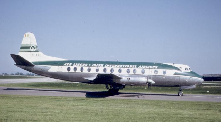 Aer Lingus Viscount 808 Manchester 1963