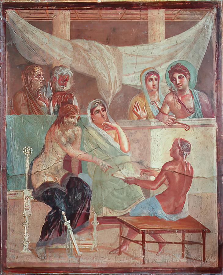 File:Affreschi romani - pompei - alcesti e admeto2.jpg