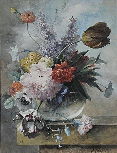 FichierArthur Chaplin , Nature morte aux fleurs