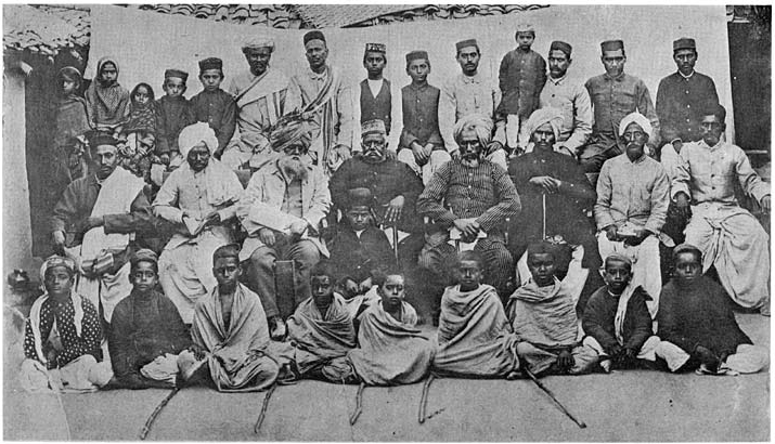 A meeting for Arya Samaj in the early days after its foundation.