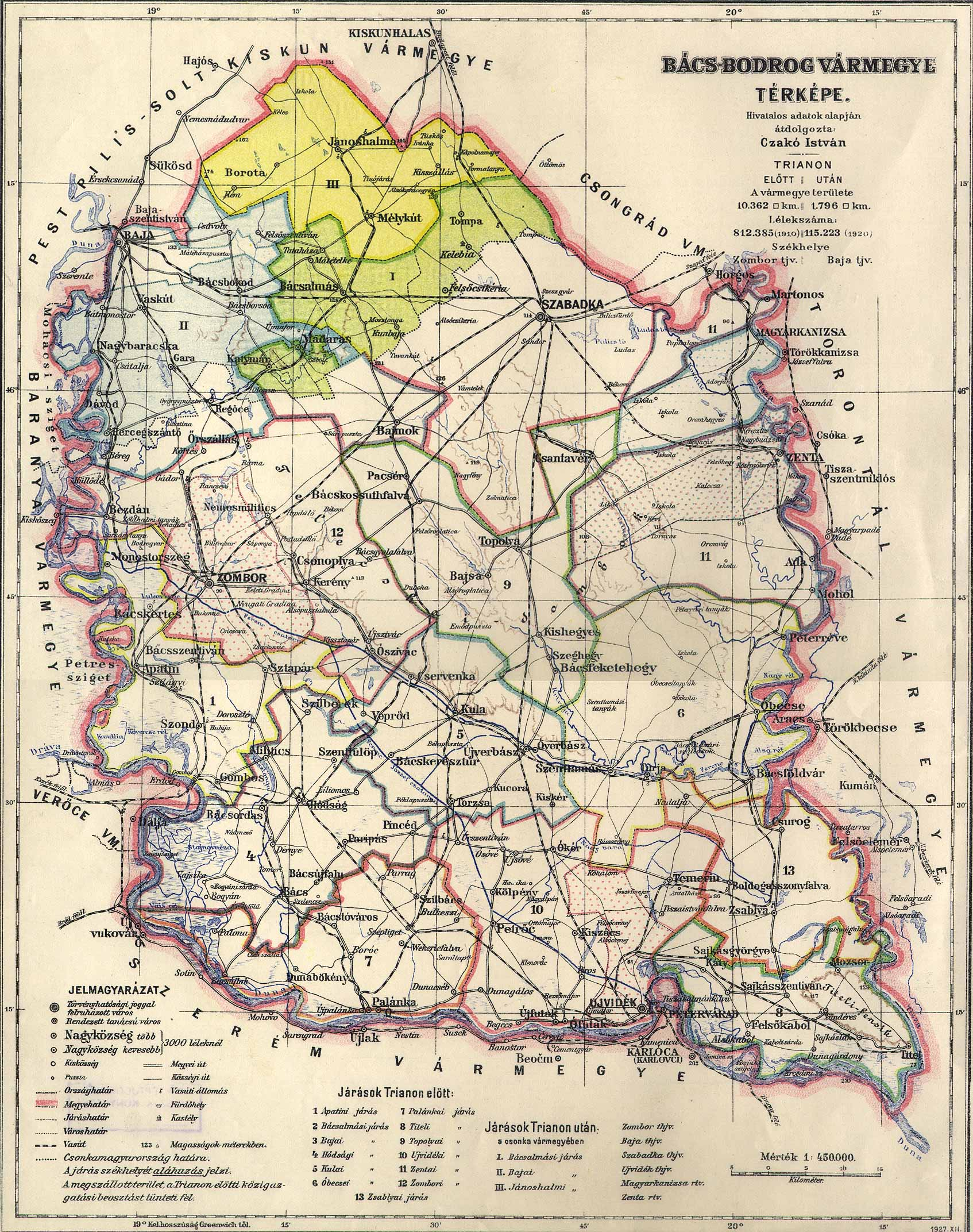 File Bacs Bodrog County Administrative Map Jpg Wikimedia Commons