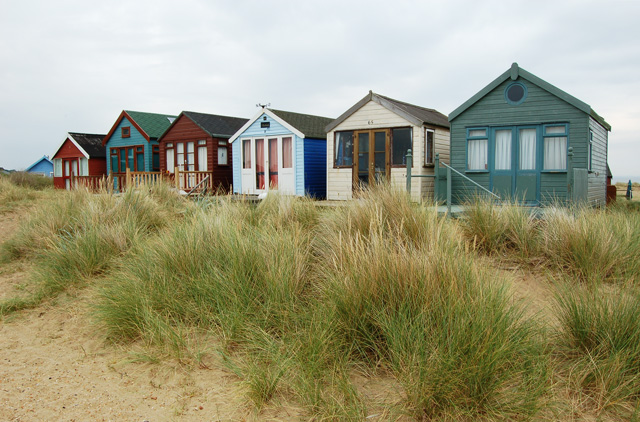 Filebeach Huts At Mudeford Sandbank Geograph Org Uk