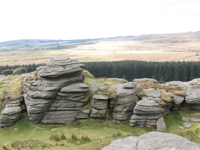 Bellever Tor, across the gap - geograph.org.uk - 740334