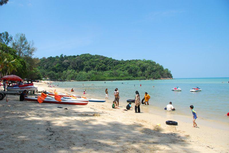 Blue Lagoon Beach Port Dickson, Malaysia