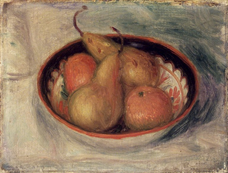 Brooklyn Museum - Pears and Oranges in a Bowl - William Glackens