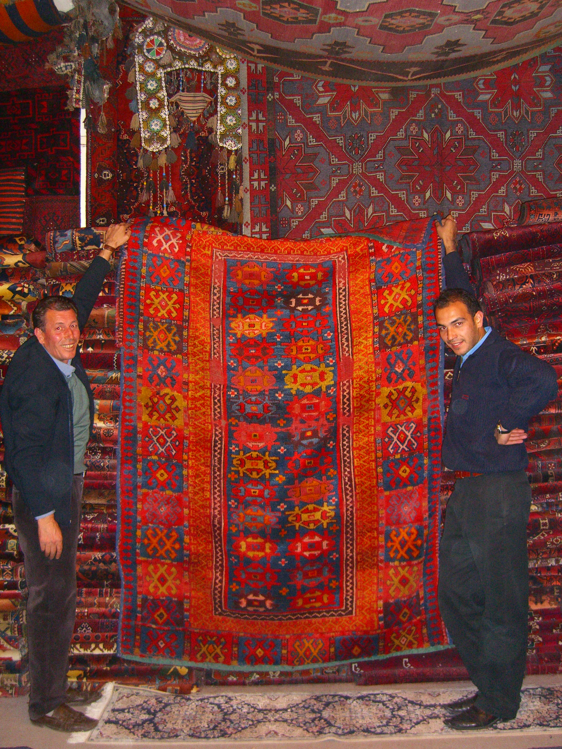 File Central Anatolian Rug Shop Owner And Son Display