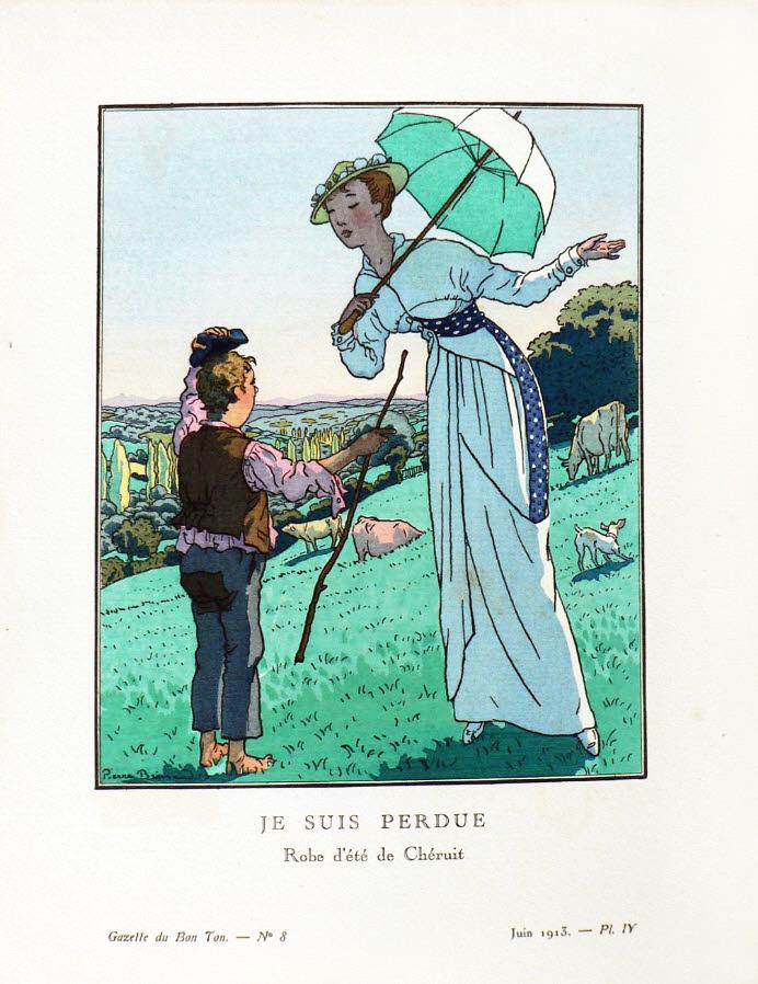"""Pierre Brissaud. Ilustración de la revista """"Gazette du Bon Ton"""" / """"Gazette du Bon Genre""""."""