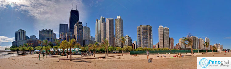 Oak Street Beach Panoramic 2009