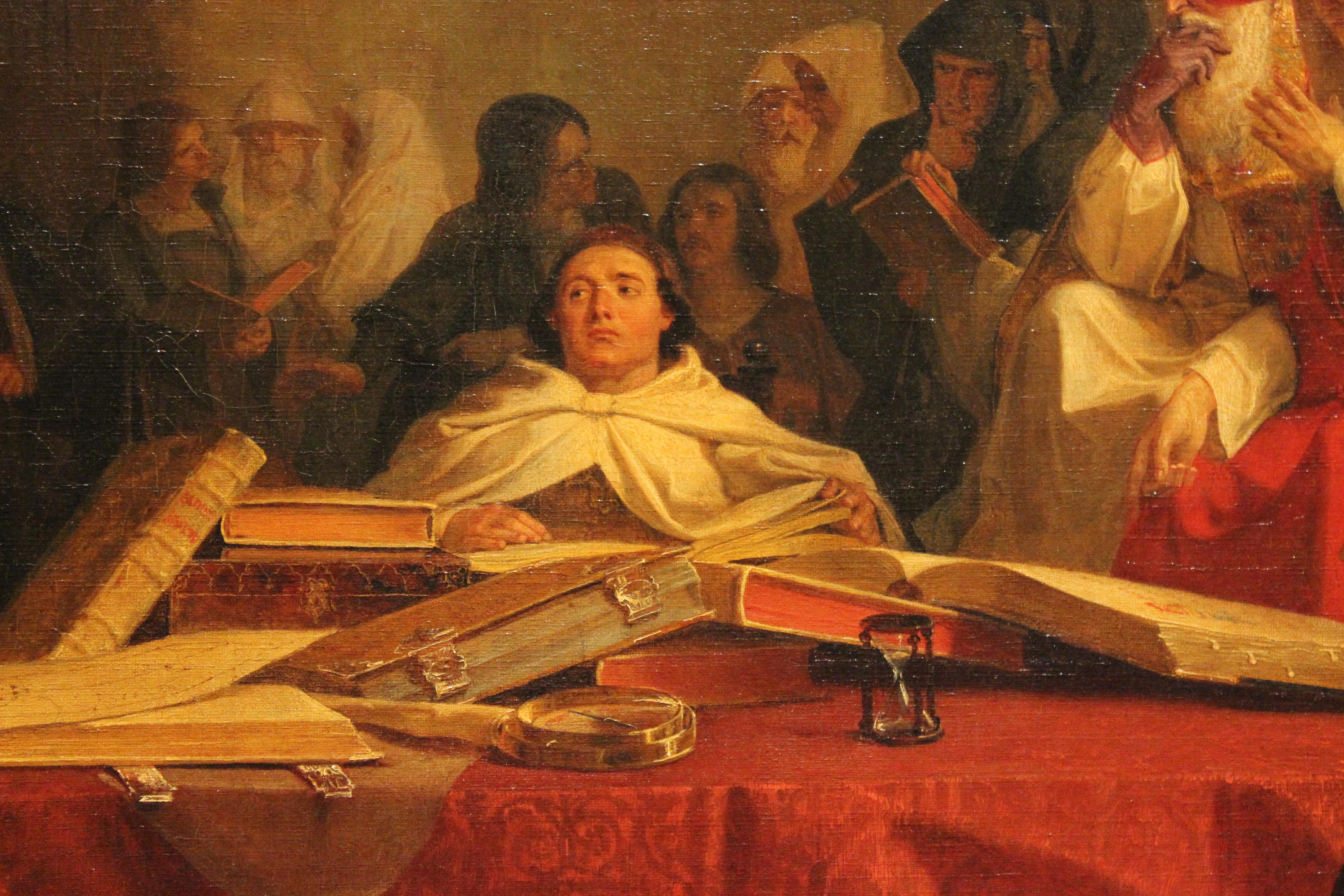 File Christophe Colomb Devant Le Conseil De Salamanque Emanuel Leutze Mba Lyon 2014 Detail 1 Jpg Wikimedia Commons