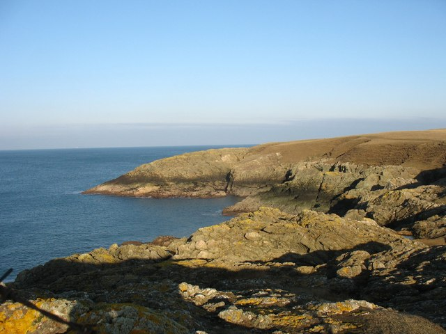Cliffs on the western side of Wylfa Head - geograph.org.uk - 1192911