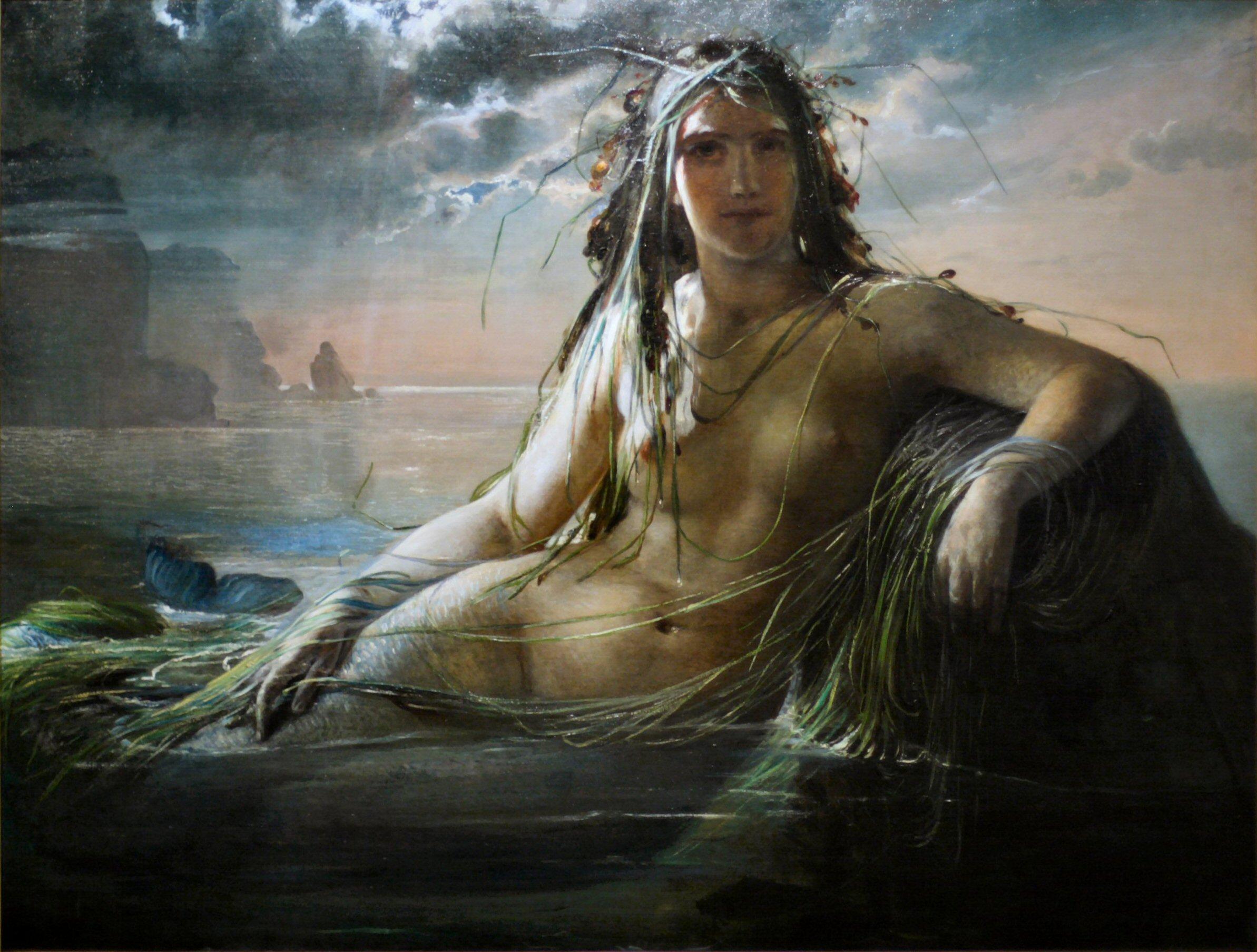 A painting of a mermaid by Elisabeth Jerichau-Baumann