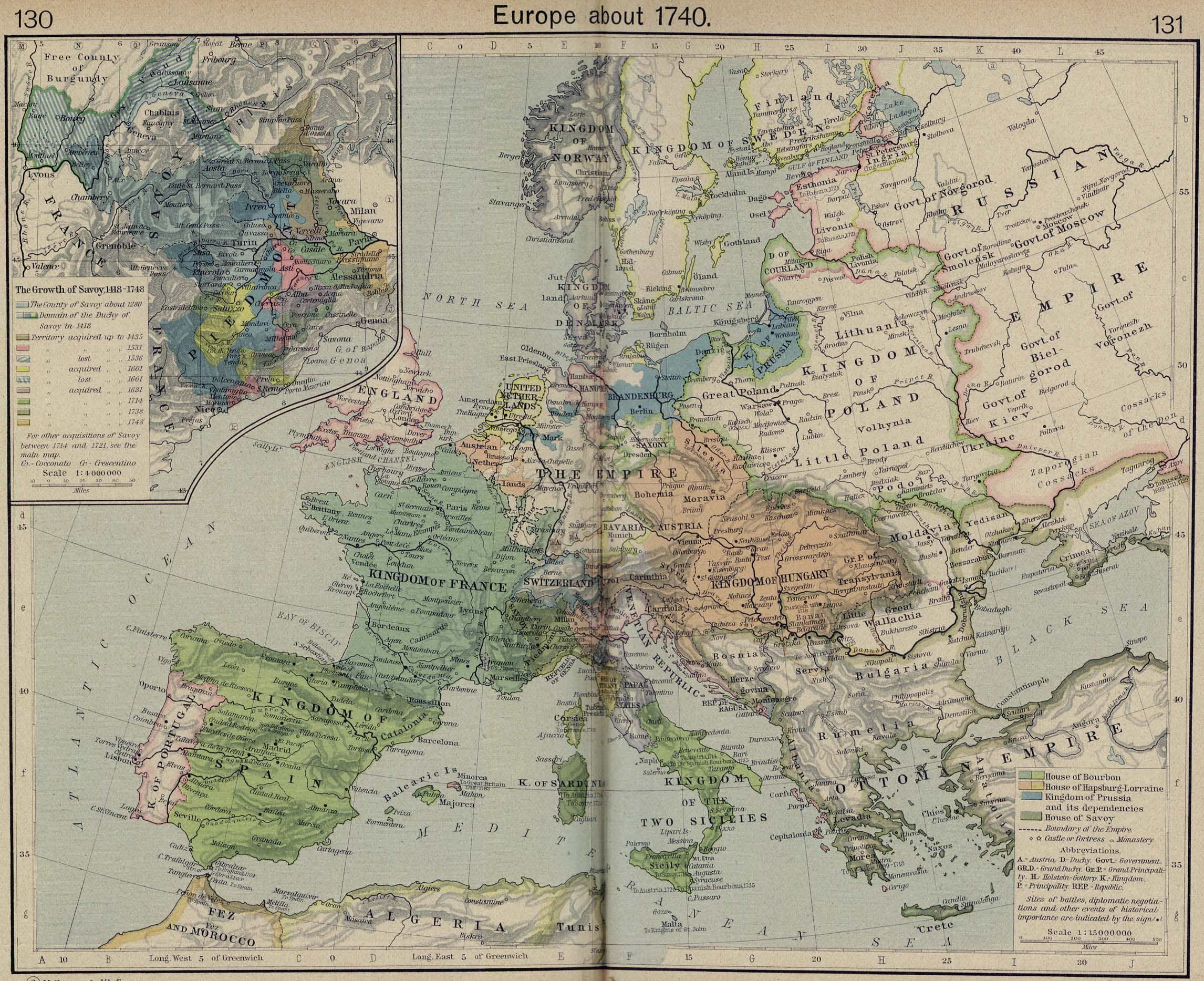 Map Of Europe 1840.Atlas Of European History Wikimedia Commons