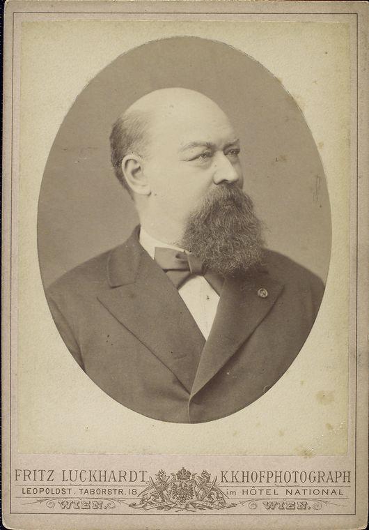 Publicity photo of Franz von Suppė, taken by Fritz Luckhardt