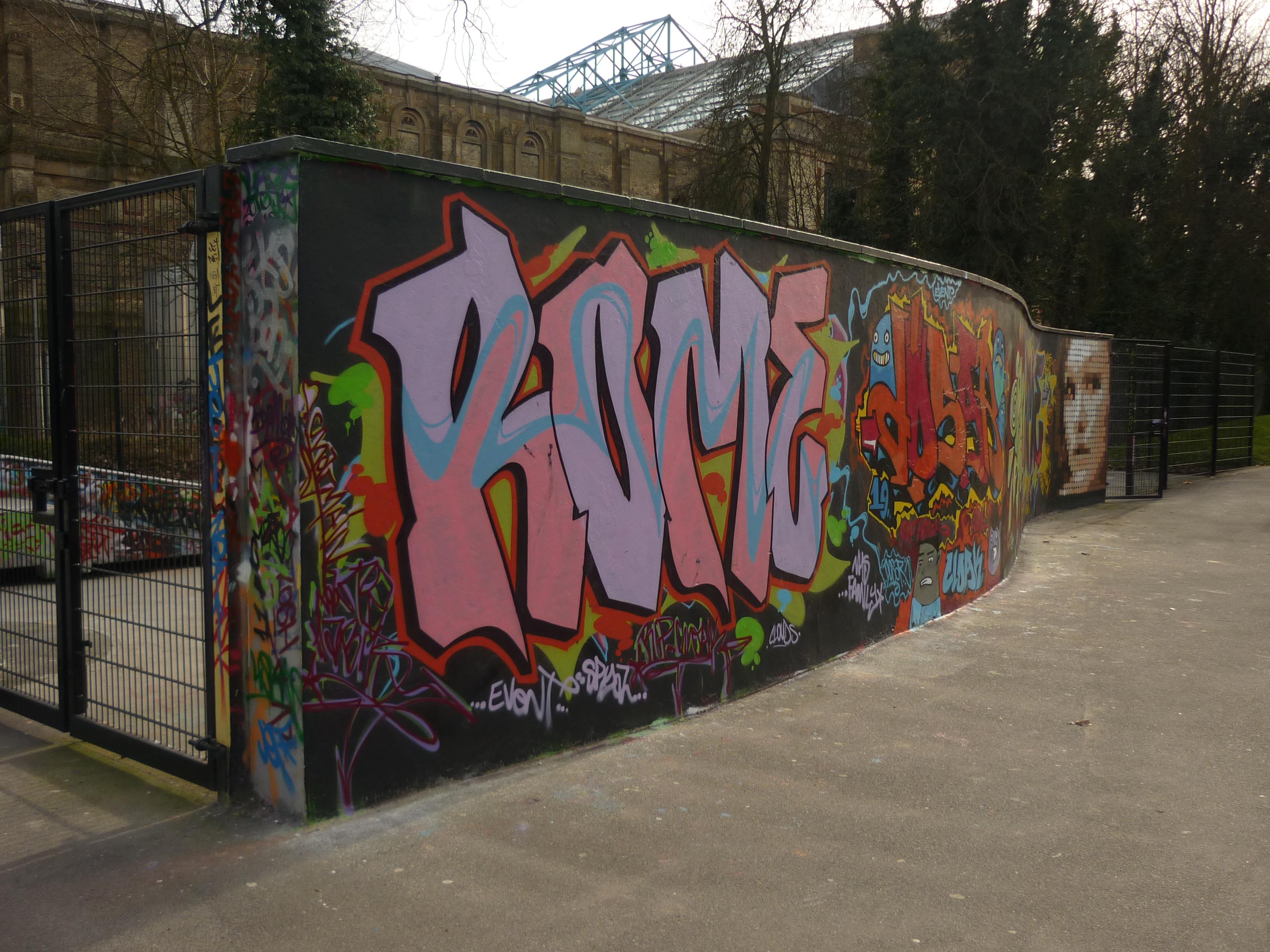 Filegraffiti wall alexandra park skatepark north london geograph org