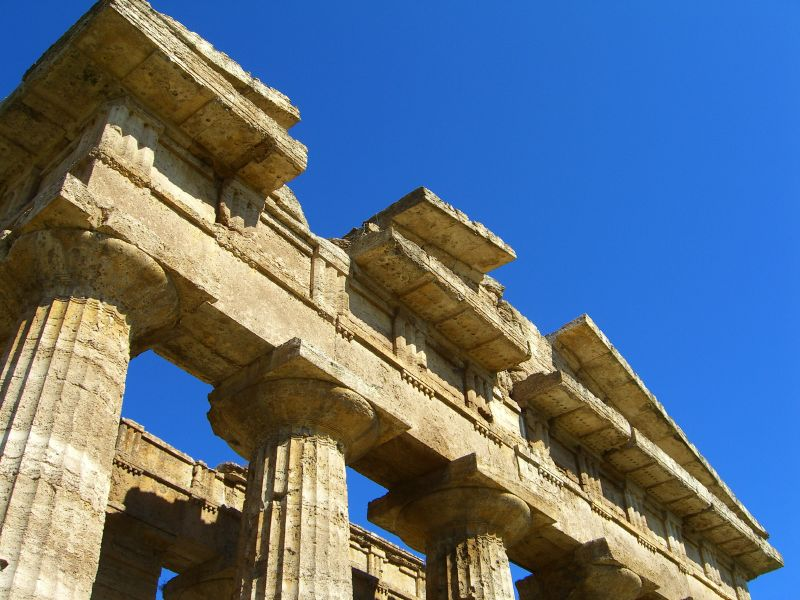 Greek Temple of Poseidon in Paestum