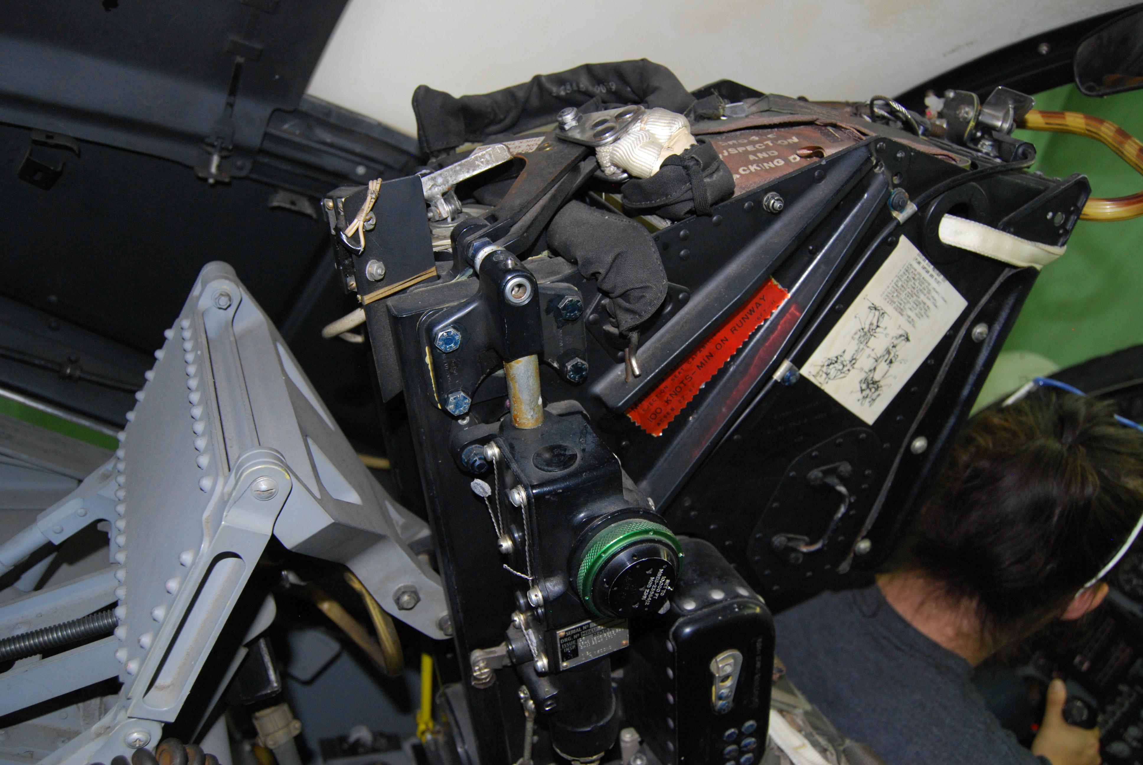 File:Grumman A-6A Simulator Pilots Martin Baker Mk GRU-5 ejection seat ...