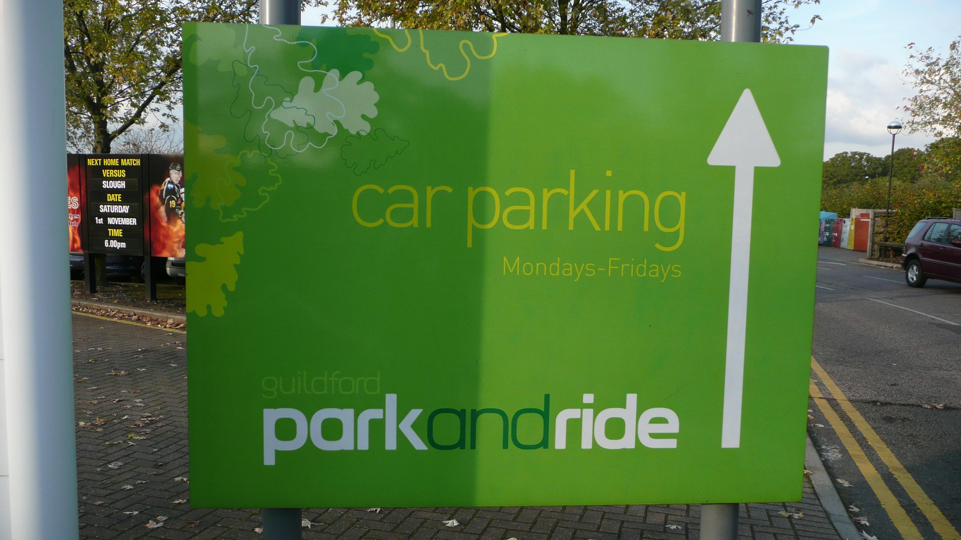 FileGuildford Spectrum Park And Ride Sign 2JPG