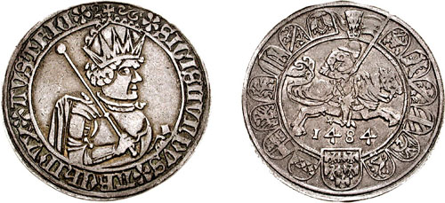 Sigismund's half guldiners and full guldiners of 1846 are regarded as the bridge between medieval and modern coinage.