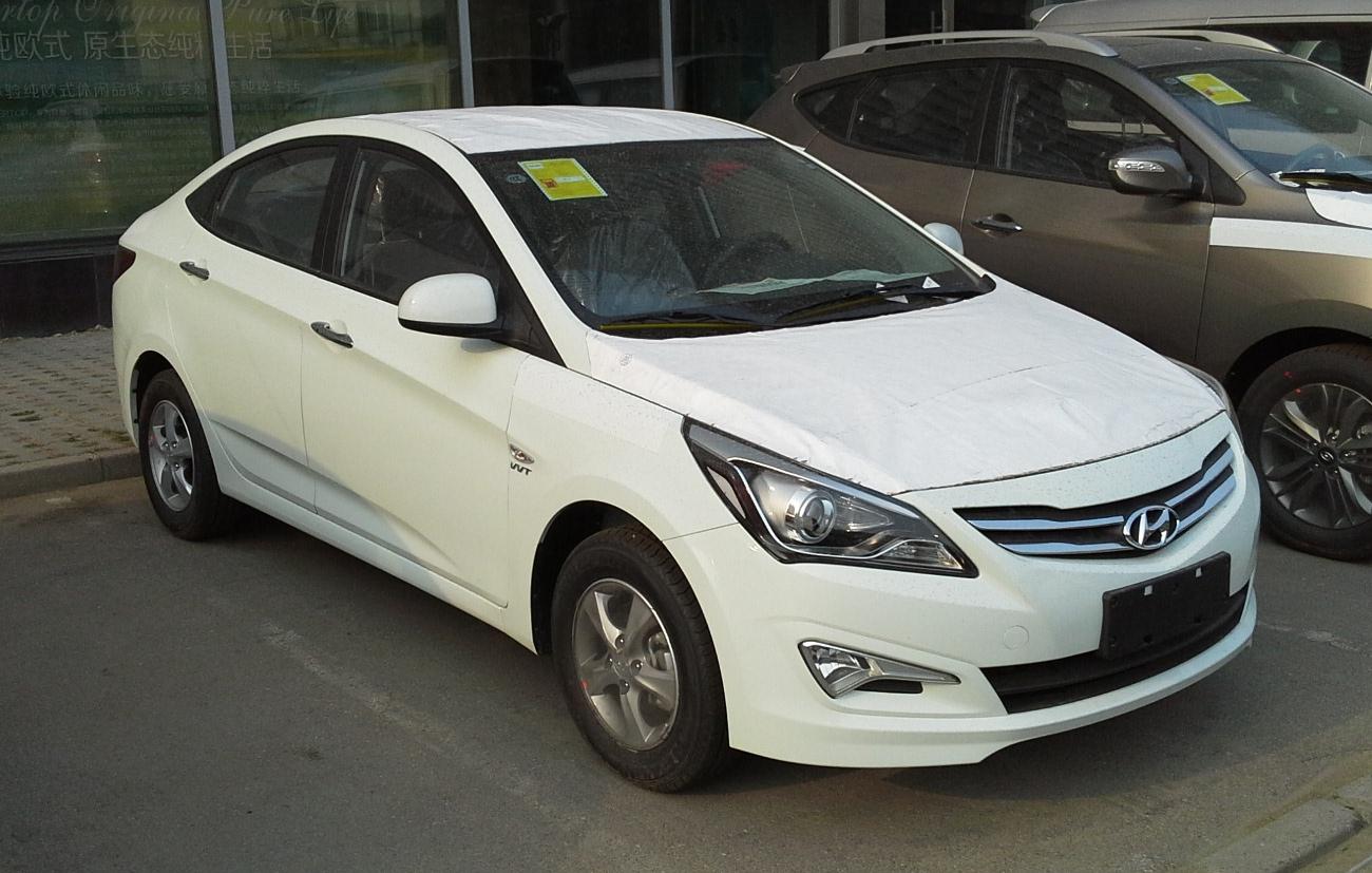 File Hyundai Verna Rc Sedan Facelift China 2014 04 24 Jpg Wikimedia Commons