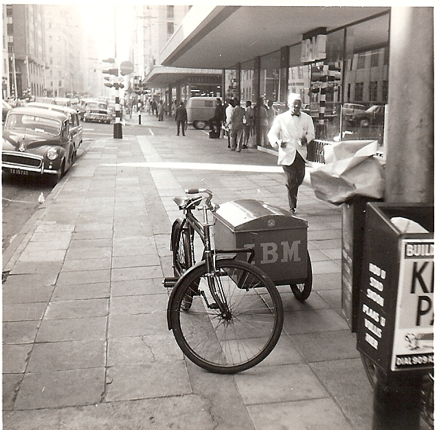 An IBM delivery tricycle in Johannesburg, South Africa in 1965