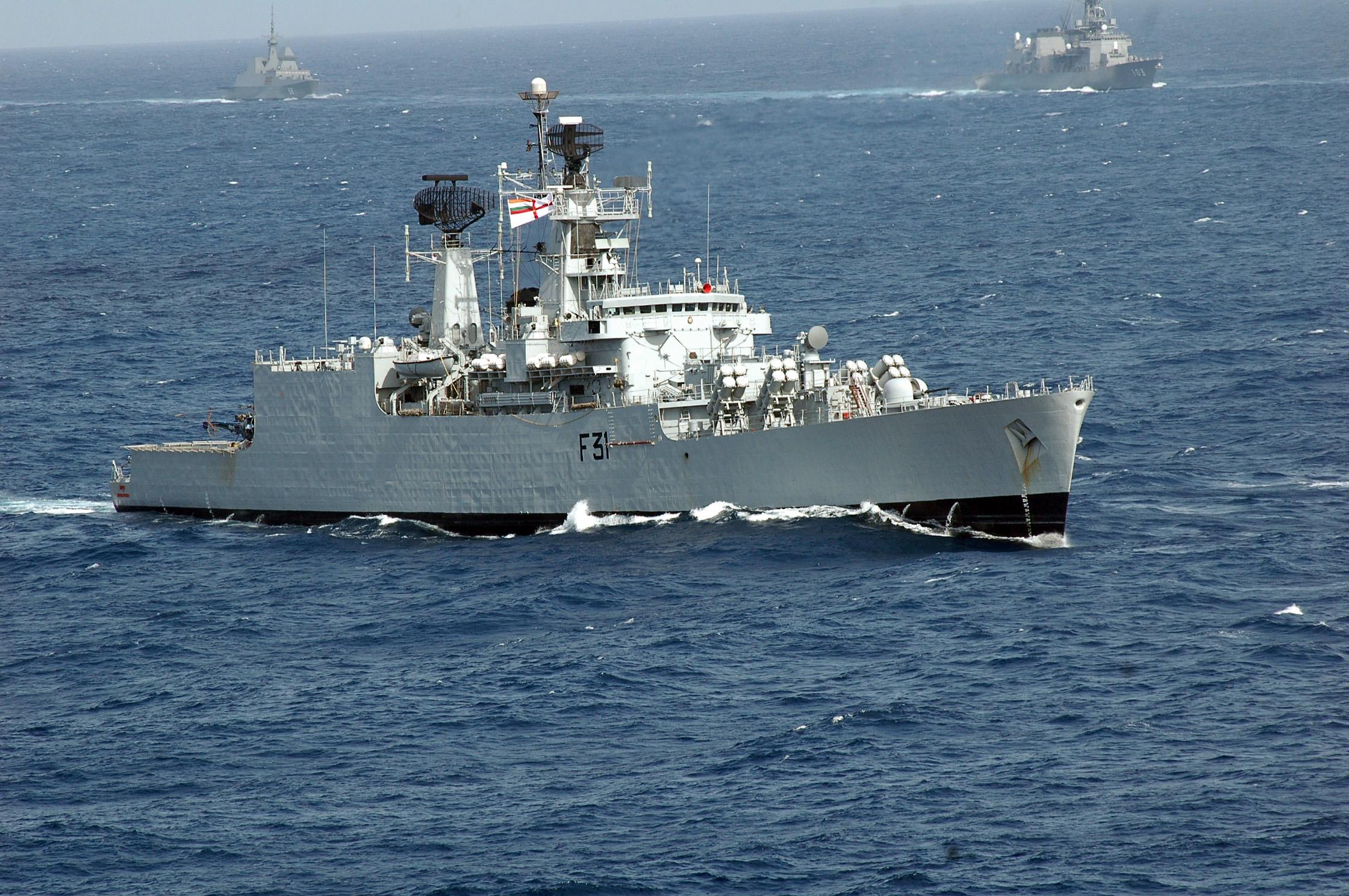 INS Brahmaputra (F31) - Brahmaputra class Frigate (India ...