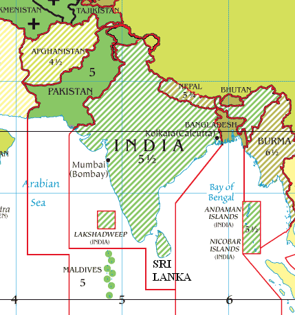 Time Zones In India Map Indian Standard Time   Wikipedia